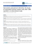 """Báo cáo y học: """"Atorvastatin pretreatment diminishes the levels of myocardial ischemia markers early after CABG operation: an observational study"""""""