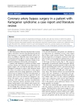 "Báo cáo y học: ""Coronary artery bypass surgery in a patient with Kartagener syndrome: a case report and literature review"""