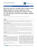 "Báo cáo y học: ""Early and mid term mortality after coronary artery bypass grafting in women depends on the surgical protocol: retrospective analysis of 3441 on- and off-pump coronary artery bypass grafting procedures"""