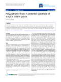 """Báo cáo y học: """"Polyurethane sheet: A potential substitute of surgical cotton gauze"""""""