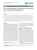 "báo cáo khoa học: ""The immunoregulatory mechanisms of carcinoma for its survival and development"""