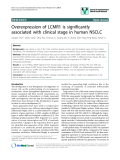 """báo cáo khoa học: """"Overexpression of LCMR1 is significantly associated with clinical stage in human NSCLC"""""""