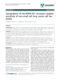 """báo cáo khoa học: """" Upregulation of microRNA-451 increases cisplatin sensitivity of non-small cell lung cancer cell line (A549)"""""""