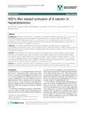 """báo cáo khoa học: """"HGF/c-Met related activation of b-catenin in hepatoblastoma"""""""