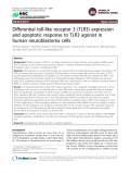"Báo cáo y học: "" Differential toll-like receptor 3 (TLR3) expression and apoptotic response to TLR3 agonist in human neuroblastoma cells"""