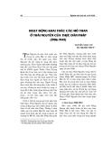 """Báo cáo nghiên cứu khoa học """" Hoạt động khai thác các mỏ than ở Thái Nguyên của thực dân Pháp 1906 -1945 """""""