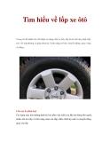 Tìm hiểu về lốp xe ôtô