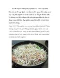 Giá đỗ ngâm chất độc từ TQ bán tràn lan ở Việt Nam