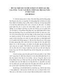 Một số vấn đề cơ bản về thuế giá trị gia tăng và vận dụng thuế giá trị gia tăng ở Việt Nam