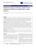 """báo cáo khoa học: """"Multi-level analysis of electronic health record adoption by health care professionals: A study protocol"""""""