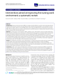 "báo cáo khoa học: ""Interventions aimed at improving the nursing work environment: a systematic review"""