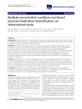 """báo cáo khoa học: """"Multiple uncontrolled conditions and blood pressure medication intensification: an observational study"""""""