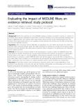 "báo cáo khoa học: "" Evaluating the impact of MEDLINE filters on evidence retrieval: study protocol"""