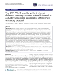 "báo cáo khoa học: "" The QUIT-PRIMO provider-patient Internetdelivered smoking cessation referral intervention: a cluster-randomized comparative effectiveness trial: study protocol"""