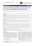"""báo cáo khoa học: """" The Rx for Change database: a first-in-class tool for optimal prescribing and medicines use"""""""