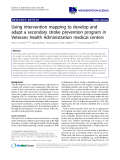 """báo cáo khoa học: """" Using intervention mapping to develop and adapt a secondary stroke prevention program in Veterans Health Administration medical centers"""""""