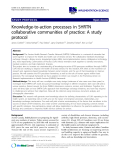 "cáo khoa học: ""Knowledge-to-action processes in SHRTN collaborative communities of practice: A study protocol"""