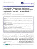 """cáo khoa học: """" Understanding organisational development, sustainability, and diffusion of innovations within hospitals participating in a multilevel quality collaborative"""""""