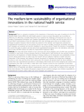 """cáo khoa học: """" The medium-term sustainability of organisational innovations in the national health service"""""""