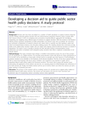 """báo cáo khoa học: """" Developing a decision aid to guide public sector health policy decisions: A study protocol"""""""