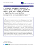 """cáo khoa học: """" A knowledge translation collaborative to improve the use of therapeutic hypothermia in post-cardiac arrest patients: protocol for a stepped wedge randomized trial"""""""