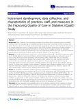 """báo cáo khoa học: """"Instrument development, data collection, and characteristics of practices, staff, and measures in the Improving Quality of Care in Diabetes (iQuaD) Study"""""""