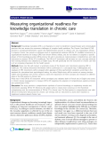 """báo cáo khoa học: """"Measuring organizational readiness for knowledge translation in chronic care"""""""