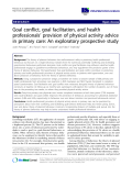 """báo cáo khoa học: """"Goal conflict, goal facilitation, and health professionals' provision of physical activity advice in primary care: An exploratory prospective study"""""""