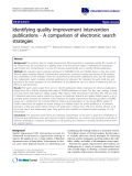 """báo cáo khoa học: """"Identifying quality improvement intervention publications - A comparison of electronic search strategies"""""""