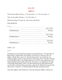 Lý thuyết y khoa: Tên thuốc KLACID ABBOTT