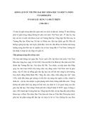 """Báo cáo nghiên cứu khoa học """" KHOA LỊCH SỬ TRƯỜNG ĐẠI HỌC KHOA HỌC XÃ HỘI VÀ NHÂN VĂN [ĐHQGHN] 55 NĂM XÂY DỰNG VÀ PHÁT TRIỂN (1956-2011) """""""