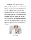 Cách chữa nghẹt mũi của Trung Y