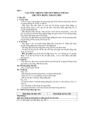 Bài 2:  VẬN TỐC TRONG CHUYỂN ĐỘNG THẲNG CHUYỂN ĐỘNG THẲNG ĐỀU