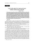 """Báo cáo nghiên cứu khoa học """"  VÀI TƯ LIỆU MỚI VỀ CỰU HOÀNG BẢO ĐẠI THỜI KỲ Ở HỒNG KÔNG (1946-1947) """""""