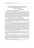 """Báo cáo nghiên cứu khoa học """" ĐÁNH THỨC TIỀM NĂNG DU LỊCH CHÙA HUẾ: ẨM THỰC GIÀ LAM """""""