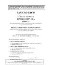 Bản cáo bạch công ty cổ phần bánh kẹo Biên Hòa Bibica