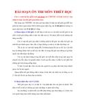 Tổng hợp 15 câu hỏi ôn thi triết cao học