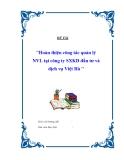 Đề tài: Hoàn thiện công tác quản lý NVL tại công ty SXKD đầu tư và dịch vụ Việt Hà