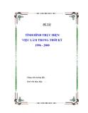 """Đề tài """" TÌNH HÌNH THỰC HIỆN VIỆC LÀM TRONG THỜI KỲ 1996 - 2000 """""""