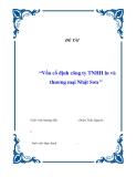 """Đề tài """"Vốn cố định công ty TNHH in và thương mại Nhật Sơn """""""