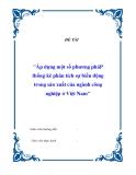 Luận văn: Áp dụng một số phương pháp thống kê phân tích sự biến động trong sản xuất của ngành công nghiệp ở Việt Nam