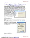 Tạo tập tin ghost cho window XP