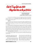 """Báo cáo nghiên cứu khoa học """" Kinh tế Trung Quốc 2020 : Những thách thức của lần quá đô thứ hai """""""