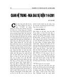 """Báo cáo nghiên cứu khoa học """" Quan hệ Trung - Nga sau sự kiện 11/9/2001 """""""