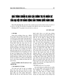 """Báo cáo nghiên cứu khoa học """" Quá trình chảun bị báo cáo chính trị và nhân sự của đại hộ XVI Đảng Cộng Sản Trung Quốc năm 2002 """""""