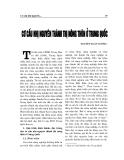 """Báo cáo nghiên cứu khoa học """" Cơ cấu nhị nguyên thành thị nông thông ở Trung Quốc """""""