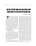"""Báo cáo nghiên cứu khoa học """" Vài nét về tiến trình cải cách nông thông Trung Quốc từ cải cách mở cửa đến nay """""""