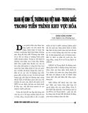 """Báo cáo nghiên cứu khoa học """" Quan hệ kinh tế, thương mại Việt Nam - Trung Quốc trong tiến trình khu vực hóa """""""