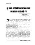 """Báo cáo nghiên cứu khoa học """" Đặc điểm và xu thế mới trong chuyển đổi kinh tế sau khi Trung Quốc gia nhập WTO """""""