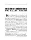 """Báo cáo nghiên cứu khoa học """" CHÍNH SÁCH HƯỚNG NAM VÀ QUAN HỆ ĐẦU TƯ, THƯƠNG MẠI ĐÀI LOAN - ASEAN """""""